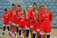 team Puerto Rico pictured before a basketball game between Nigeria and Puerto Rico on Friday 28 th of May 2021 in Kortrijk , Belgium . PHOTO SPORTPIX.BE | SPP | STIJN AUDOOREN