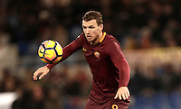 Calcio, Serie A: Roma, Stadio Olimpico, 7 febbraio 2017.<br /> Roma's Edin Dzeko in action during the Italian Serie A football match between AS Roma and Fiorentina at Roma's Olympic Stadium, on February 7, 2017.<br /> UPDATE IMAGES PRESS/Isabella Bonotto