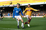 Motherwell v St Johnstone….30.03.19   Fir Park   SPFL<br />Murray Davidson and Charles Dunne<br />Picture by Graeme Hart. <br />Copyright Perthshire Picture Agency<br />Tel: 01738 623350  Mobile: 07990 594431