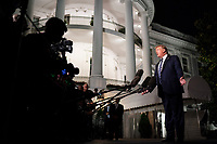 President Donald J. Trump talks to members of the press on the South Lawn of the White House Friday, Aug. 23, 2019, prior to boarding Marine One to begin his trip to France where he will attend the G7. (Official White House Photo by Joyce N. Boghosian)