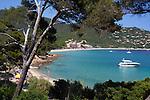 France, Provence-Alpes-Côte d'Azur, near Cavalaire-sur-Mer: Plage du Layet and Cavaliere Plage | Frankreich, Provence-Alpes-Côte d'Azur, bei Cavalaire-sur-Mer: Straende Plage du Layet und Cavaliere Plage