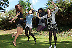 Pix: Shaun Flannery/sf-pictures.com..COPYRIGHT PICTURE>>SHAUN FLANNERY>01302-570814>>07778315553>>..27th August 2009..............Pupils from Hallcross School, Doncaster celebrate success in the GCSE exams...L-R Chelsea Ridge, Yasmin Toplis, Meryem Comak, Emily Tucker.