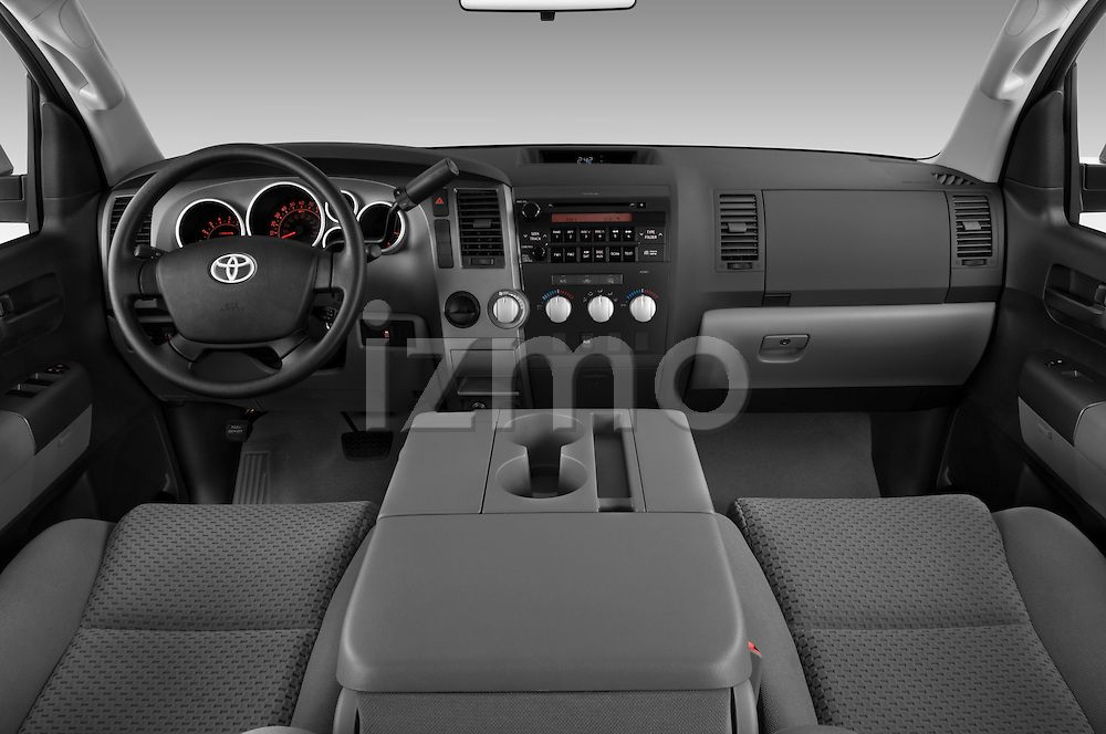 Straight dashboard view of a 2010 Toyota Tundra Double Cab 2WD.