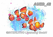 Carlie, REALISTIC ANIMALS, REALISTISCHE TIERE, ANIMALES REALISTICOS, paintings+++++,AUED42,#A#, EVERYDAY,clown fish