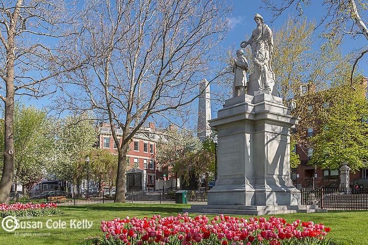 Winthrop Square in the Charlestown neighborhood, Boston, Massachusetts, USA