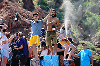 12th June 2021, Saint-Raphaël, Provence-Alpes-Côte d'Azur, France; Red Bull Cliff Diving competition;  Catalin PREDA (Roumanie) - Gary HUNT (France) - Constantin POPOVICI (Rom)