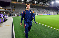 ORLANDO, FL - NOVEMBER 15: Josh Sargent #19 of the United States walks onto the field during a game between Canada and USMNT at Exploria Stadium on November 15, 2019 in Orlando, Florida.