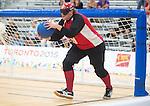 Nancy Morin, Toronto 2015 - Goalball.<br /> Canada's Women's Goalball team plays against USA in the semi finals // L'équipe féminine de goalball du Canada joue contre les États-Unis en demi-finale. 14/08/2015.