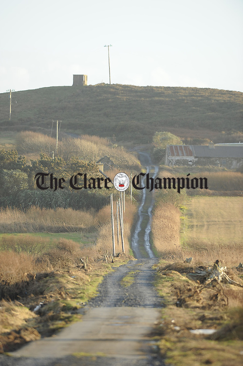 A view of the bog road which has to be used by residents and visitors to the Kilcredaun area due to flooding on the main access road. Photograph by John Kelly.