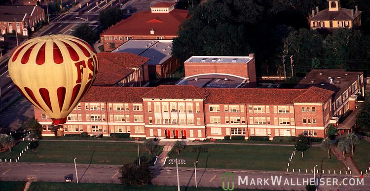 The FSU balloon flies over Leon High School April 14, 1993...