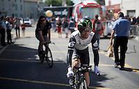 Mark Cavendish (GBR/DimensionData) to the start<br /> <br /> stage 13 (ITT): Bourg-Saint-Andeol - Le Caverne de Pont (37.5km)<br /> 103rd Tour de France 2016