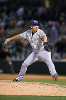 Louisville Bats relief pitcher Jose De La Torre (45) in action against the Charlotte Knights at BB&T BallPark on May 12, 2015 in Charlotte, North Carolina.  The Knights defeated the Bats 4-0.  (Brian Westerholt/Four Seam Images)