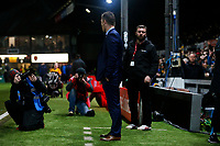 Newport County manager Michael Flynn prior to kick off of the Fly Emirates FA Cup Fourth Round match between Newport County and Tottenham Hotspur at Rodney Parade, Newport, Wales, UK. Saturday 27 January 2018