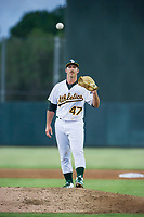 Oakland A's pitcher Daniel Mengden (47) makes a rehab start for the AZL Athletics against the AZL Dodgers on August 4, 2017 at Lew Wolff Training Complex in Mesa, Arizona. AZL Dodgers defeated the AZL Athletics 4-1. (Zachary Lucy/Four Seam Images)