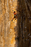 Rock climbing, Kalymnos, Greece