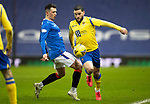Rangers v St Johnstone…03.02.21   Ibrox   SPFL<br />Ryan Jack fouls Craig Conway<br />Picture by Graeme Hart.<br />Copyright Perthshire Picture Agency<br />Tel: 01738 623350  Mobile: 07990 594431