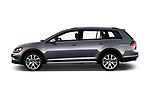 Car driver side profile view of a 2018 Volkswagen Golf Alltrack TSI SEL 4Motion DSG 5 Door Wagon