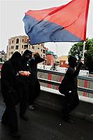 Black blocks durant la Manifestation de syndicats pour les droits des travailleurs, le 6 Septembre 2021 durant la fin de semaine de la Fête du travail.<br /> <br /> PHOTO : Agence Quebec Presse - Anne Campagna