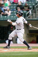 April 24, 2009:  Designated Hitter John Rodriguez (19) of the Scranton Wilkes-Barre Yankees, International League Class-AAA affiliate of the New York Yankees, during a game at the Frontier Field in Rochester, NY.  Photo by:  Mike Janes/Four Seam Images