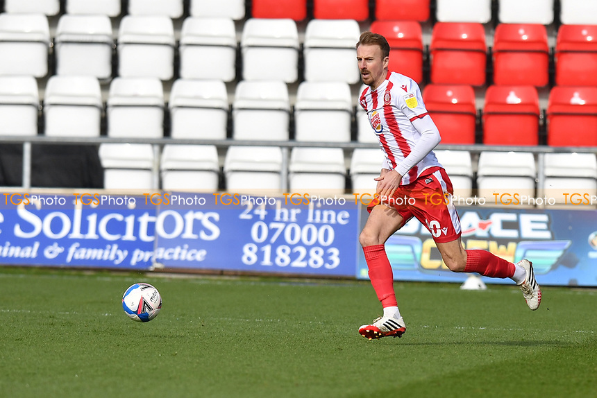 Chris Lines of Stevenage FC during Stevenage vs Barrow, Sky Bet EFL League 2 Football at the Lamex Stadium on 27th March 2021