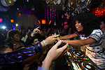R&B singer, Brandy performs at Lavo Nightclub on New Years Eve with her fiance, Ryan Press in attendance on Monday, Dec. 31, 2012, in Las Vegas. (Photo by Al Powers/Powers Imagery/Invision/AP)