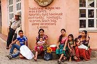 south America, Guatemala. San Juan La laguna, Maya family group