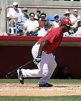 March 31, 2004:  Willy Mo Pena of the Cincinnati Reds organization during Spring Training at Ed Smith Stadium in Sarasota, FL.  Photo copyright Mike Janes/Four Seam Images