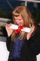 DIRECTOR ANDREA ARNOLD, WINNER OF THE JURY PRIZE FOR THE FILM 'AMERICAN HONEY' - PHOTOCALL OF THE WINNERS AT THE 69TH FESTIVAL OF CANNES 2016