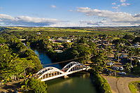 Hale'iwa Bridge and River in Hale'iwa Town on the North Shore of O'ahu.