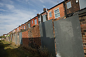 Houses in Derker, Oldham, scheduled for demolition as part of the Housing Market Renewal programme.