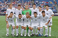 United States (USA) starting XI. The United States and Haiti played to a 2-2 tie during a CONCACAF Gold Cup Group B group stage match at Gillette Stadium in Foxborough, MA, on July 11, 2009. .