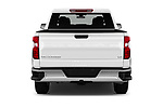 Straight rear view of 2019 Chevrolet Silverado-1500 LT 4 Door Pick-up Rear View  stock images