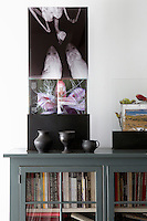 Sideboard with books