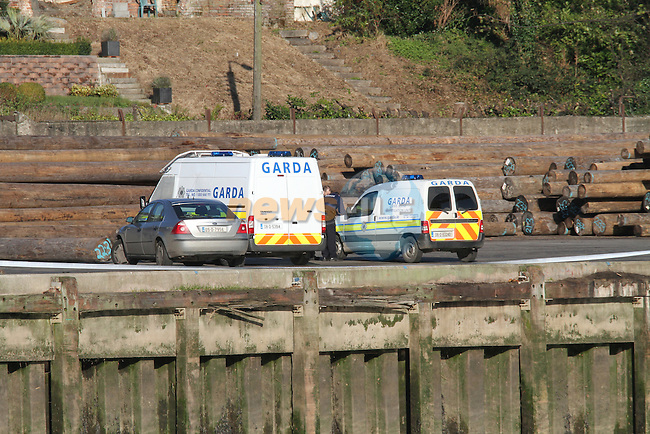 the scene in Drogheda Port of where a 3 year child was killed, emergency services were called to the scene after the after 12 o'clock and the child was remover to hospital..Garda sealed off the area and crime scene specialists were called to the scene...Photo: Fran Caffrey/www.newsfile.ie.Copy by Eunan White 0867726324..