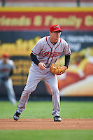 Richmond Flying Squirrels second baseman Kelby Tomlinson (1) during a game against the Erie Seawolves on May 20, 2015 at Jerry Uht Park in Erie, Pennsylvania.  Erie defeated Richmond 5-2.  (Mike Janes/Four Seam Images)