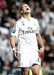 Real Madrid's Javier Chicharito Hernandez dejected during Champions League 2014/2015 Quarter-finals 2nd leg match.April 22,2015. (ALTERPHOTOS/Acero)