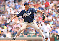 Future Hall of Fame pitcher Greg Maddux of the San Diego Padres vs. the Chicago Cubs: June 18th, 2007 at Wrigley Field in Chicago, IL.  Photo By Mike Janes/Four Seam Images