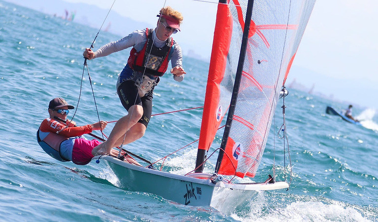 Royal Cork Yacht Club's James Dwyer and Chris Bateman were 15th from 193 starts at the 29er World Cup in Spain