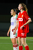 Sara Yuceil (13 OHL) (L) pictured during a female soccer game between Oud Heverlee Leuven and Standard Femina De Liege on the 10th matchday of the 2020 - 2021 season of Belgian Womens Super League , sunday 20 th of December 2020  in Heverlee , Belgium . PHOTO SPORTPIX.BE | SPP | SEVIL OKTEM