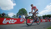 """Pim Ligthart (NLD/Lotto-Belisol) up le """"Petit Poggio""""<br /> <br /> <br /> 2014 Belgium Tour<br /> stage 4: Lacs de l'Eau d'Heure - Lacs de l'Eau d'Heure (178km)"""