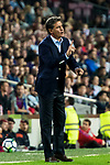 Coach Jose Miguel Gonzalez Martin del Campo, Michel, of Malaga CF reacts during the La Liga 2017-18 match between FC Barcelona and Malaga CF at Camp Nou on 21 October 2017 in Barcelona, Spain. Photo by Vicens Gimenez / Power Sport Images