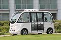 SB Drive presents autonomous driving bus Navya Arma