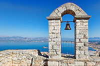 The bay of Nafplio from the castle Palamidi, Greece