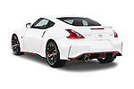Car pictures of rear three quarter view of a 2015 Nissan 370Z NISMO 2 Door Coupe Angular Rear