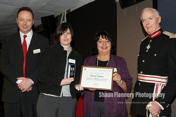 Pix: Shaun Flannery/shaunflanneryphotography.com...COPYRIGHT PICTURE>>SHAUN FLANNERY>01302-570814>>07778315553>>..24th February 2011............Yorkshire Ambulance Service, Long Service and Retirement Awards, Bramall Lane, Sheffield.