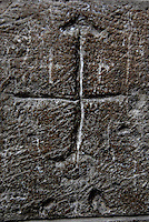 Gerusalemme / Israele.Croci scavate nella roccia all'interno della Basilica del Santo Sepolcro.Foto Livio Senigalliesi..Jerusalem / Israel.Church of the Holy Sepulchre.Photo Livio Senigalliesi
