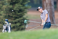 11th September 2020, Napa, California, USA;  Luke Schniederjans of the United States chips to safety during the second round of the Safeway Open PGA tournament on September 11, 2020 at Silverado Country Club in Napa, CA.