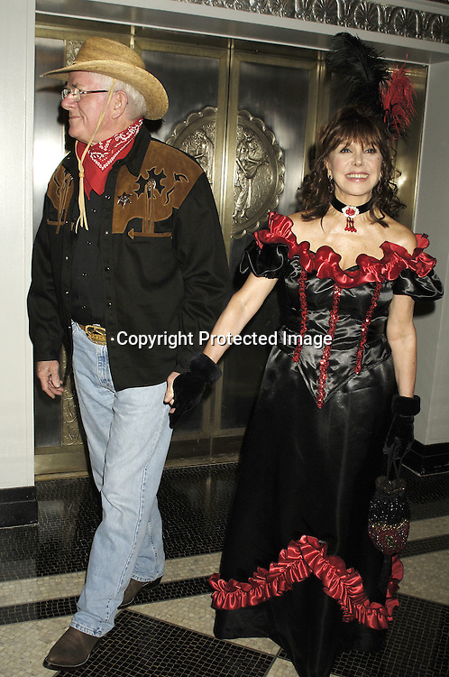 Phil Donahue and wife Marlo Thomas ..at The Hulaween Ball Celebrating  Bette Midler's 10th Anniversary of The New York Restoration Project and Bette Midler's 60th Birthday on October 31, 2005 at The Waldorf Astoria Hotel. ..Photo by Robin Platzer, Twin Images