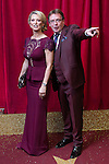 © Licensed to London News Pictures . 16/05/2015 .  The Palace Hotel , Manchester , UK . Gillian Taylforth and Adam Woodyatt . The red carpet at the 2015 British Soap Awards , The Palace Hotel , Oxford Road , Manchester . Photo credit : Joel Goodman/LNP