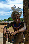 Pará State, Brazil. Aldeia Kikretum. Pajé  Bebkoti Kayapó. Healing hands.
